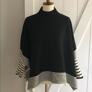 Black and White Sweater Tunic from Chicwish